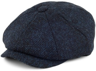 Failsworth Hats Carloway Harris Tweed Newsboy Cap - Blue 57