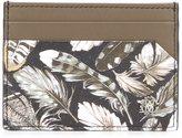 Roberto Cavalli feather print wallet