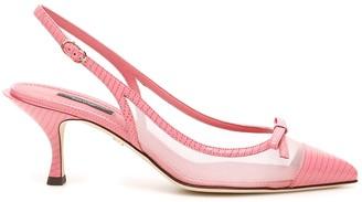 Dolce & Gabbana Lori Mesh Slingback Pumps