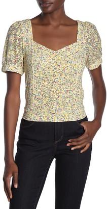 Elodie K Floral Lace Ruche Shirt