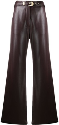Nanushka faux leather trousers