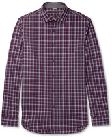 Michael Kors - Slim-fit Checked Cotton-poplin Shirt