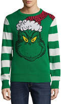NOVELTY SEASON Novelty Season Crew Neck Long Sleeve Grinch Cotton Blend Pullover Sweater