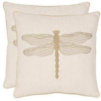 Safavieh Azure Damselfly Pillows, Set of Two