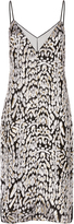 ADAM by Adam Lippes Leopard Velvet Slip Dress