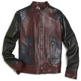 Gucci Boy's Zip-Front Leather Jacket