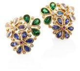 Temple St. Clair Flower Cluster Diamond & Semi-Precious Multi-Stone Stud Earrings