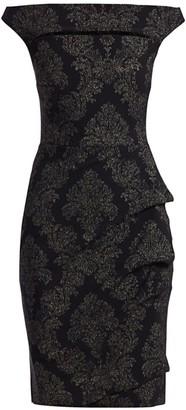 Chiara Boni Melania Off-The-Shoulder Print Dress