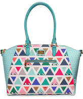 Little Moose Don't Be Square Triangle Print Oversized Handbag