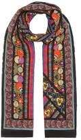Etro Mixed border silk scarf