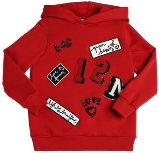 Dolce & Gabbana Logo Patches Cotton Sweatshirt Hoodie