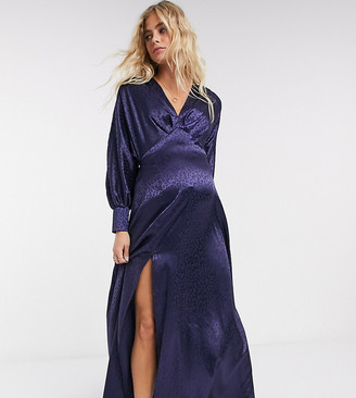 Flounce London Maternity exclusive batwing maxi dress in navy