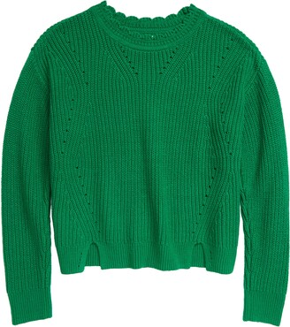 1901 Kids' Scallop Neck Sweater