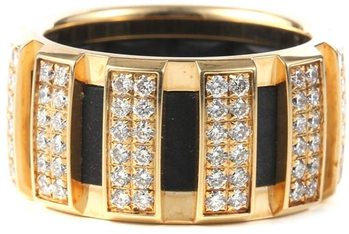 Chaumet 18K Yellow Gold & Diamond Ring Size 48