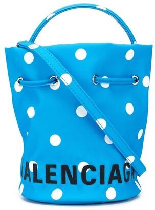 Balenciaga Wheel XS drawstring bucket bag