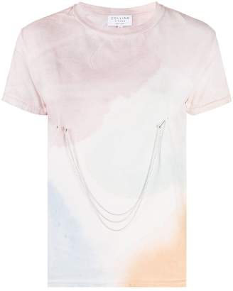Collina Strada x Charlie Engman pierced watercolour print T-shirt