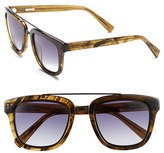 Derek Lam Women's 'Prince' 50Mm Aviator Sunglasses - Caramel Stripes