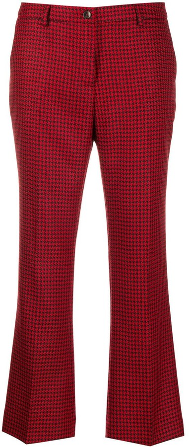 Pt01 Houndstooth Cropped Trousers