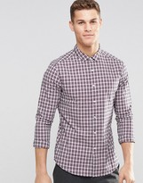 Asos Skinny Shirt In Multi Grid Check With Long Sleeves