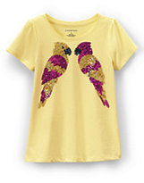 Classic Girls Plus Scallop Embellished Graphic Tee-Bird Friends
