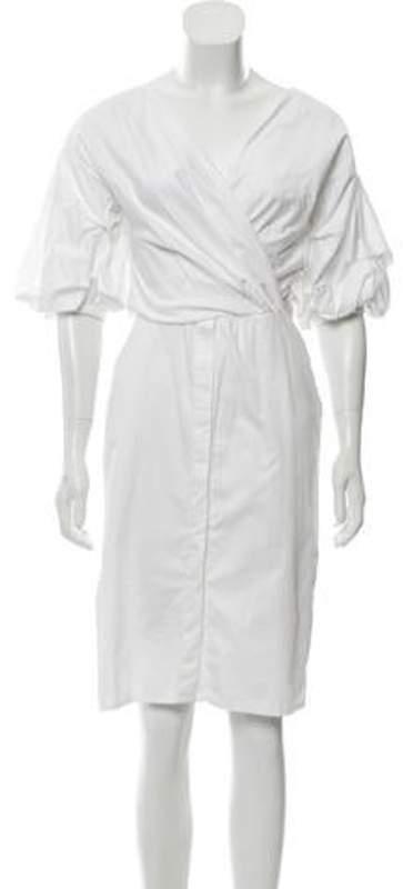 Johanna Ortiz Tuxedo Midi Dress White Tuxedo Midi Dress