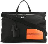 Calvin Klein patch detail weekend bag
