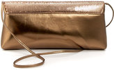 La Regale Metallic Satin Flap Clutch