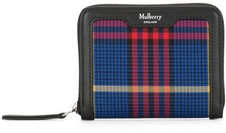 Mulberry Check-Print Wallet