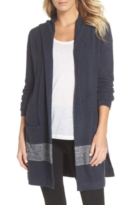 Barefoot Dreams Cozychic Lite® Coastal Hooded Cardigan