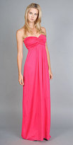 Hot Pink Long Strapless Dresses by Tibi