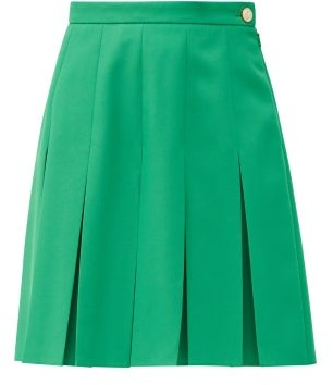Gucci Pleated Twill Skirt - Green