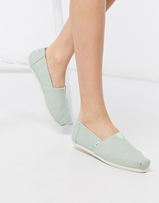 Toms Alpargarta flat shoes in green