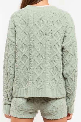 POL Plush Cable-Knit Sweater