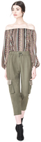 Alice + Olivia Anders Embellished Pull Up Cargo Pant