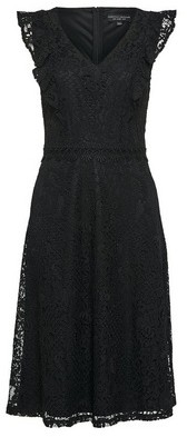 Dorothy Perkins Womens Black Lace Taylor Midi Dress, Black