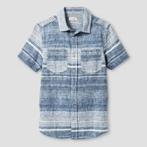 Cat & Jack Boys' Short Sleeve Woven Button Down Shirt - Cat & Jack Blue