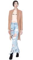 Alice + Olivia Logan High Neck Midlength Coat