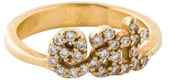 Alison Lou 14K Pavé Diamond 'Eat' Ring