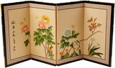 Oriental Furniture Asian Decor and Gifts, 18 by 36-Inch Butterflies in Garden Chinese Brush Art Wall Screen Painting