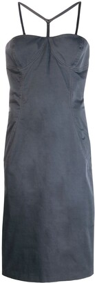 Versace Pre Owned Bustier Midi Dress