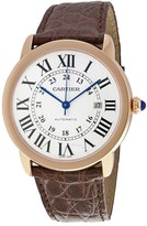 Cartier Ronde Solo de XL Automatic Silver Dial 18 kt Rose Gold Men's Watch