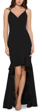Xscape Evenings High-Low Flounce Gown