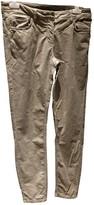 Laurèl Beige Velvet Trousers for Women