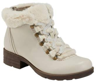 Earth Origins Randi Rex Faux Fur Trimmed Lace-Up Boot