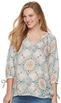 a glow Maternity a:glow High-Low Peasant Top