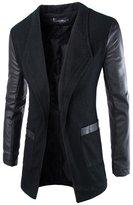 Aoiboxens Sli Fit Splicing Casual Suit British Gentleen Jacket