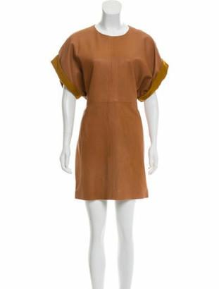 Isabel Marant Leather Mini Dress w/ Tags Cognac