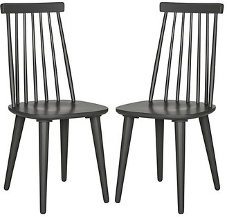 One Kings Lane Set of 2 Flynn Side Chairs - Charcoal