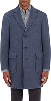 Canali Men's Cashmere Single-Breasted Coat-BLUE