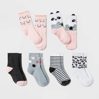 Cat & Jack Baby Girls' 6pk Critter Koala Crew Socks - Cat & JackTM